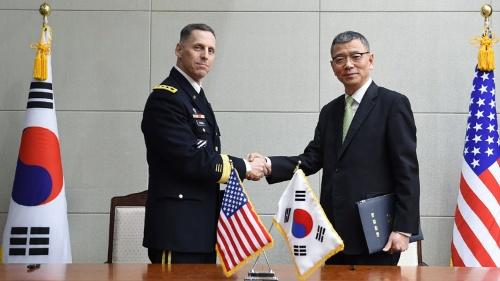 3月4日、THAAD配備について米韓がようやく公式協議入りしたが、先行きは不透明(写真:YONHAP NEWS/アフロ)