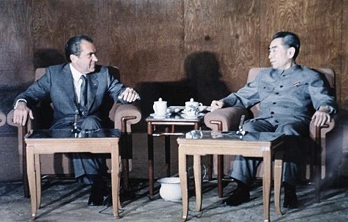 """1972年、ニクソン大統領と周恩来首相が交わした""""本音""""は、今も米中の共通認識となっている(写真:AP/アフロ)"""