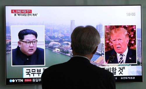 米朝首脳会談開催に暗雲が漂い始めてきた(写真/AP/アフロ)