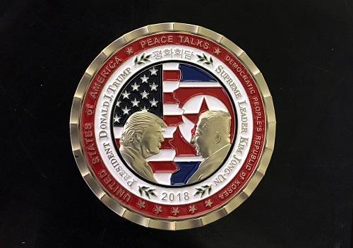米朝首脳会談に向けて記念硬貨も作られたが……(写真:UPI/アフロ)