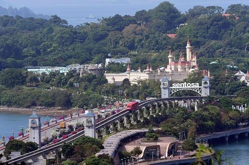 米朝首脳会談が開催予定のシンガポール・セントーサ島(写真:AFP/アフロ)