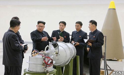 9月3日、北朝鮮は6回目の核実験を実施。ICBMに搭載可能な水爆の実験に成功したと発表した( 写真提供:KCNA/UPI/アフロ)