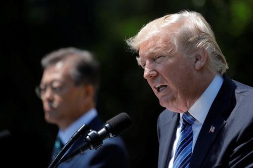 トランプ政権が見据える新たな同盟構想に韓国の名は…(写真:ロイター/アフロ)