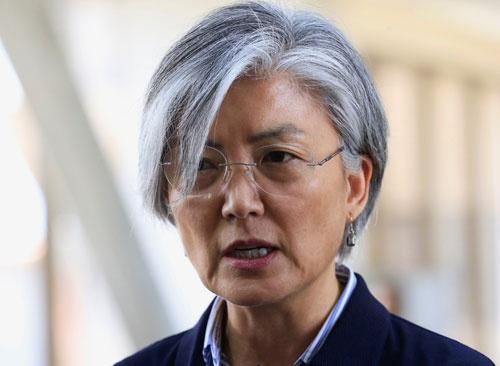 康京和外交部長官が韓国国会で「中国の希望通り」の発言をした翌日、「中韓合意」文書が発表された(ロイター/アフロ)