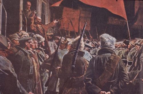 韓国保守紙は朴大統領を弾劾した「名誉革命」が「ロシア革命」に変質することを恐れる。写真はロシア革命の様子が描かれた絵画(写真:AP/アフロ)