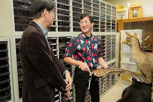 鳥の標本収蔵庫を案内して、すごい鳥を紹介してくれた川上さんは実に楽しそうだった。
