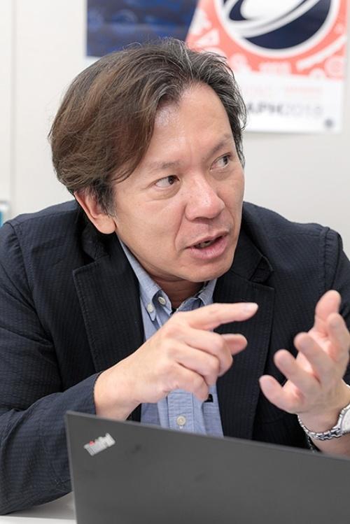 早稲田大学先進理工学部応用物理学科でCG技術を研究する森島繁生さん。