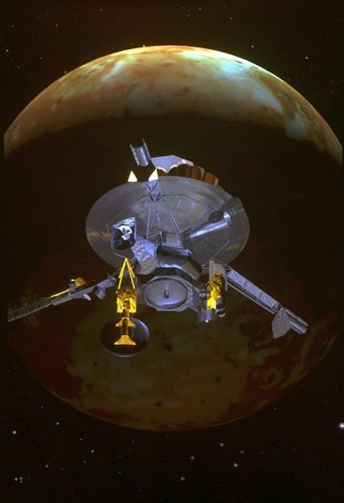 1995年に木星に到達した探査機ガリレオの想像図。(Image:NASA)