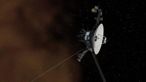 星間空間へ飛び出すボイジャーの想像図。(Image:NASA/JPL-Caltech)