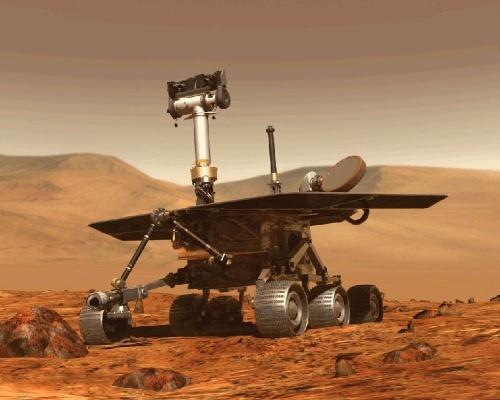 オポチュニティの想像図。2004年に着陸。(Image:NASA/JPL/Cornell University, Maas Digital LLC)