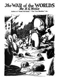 19世紀にH.G.ウェルズが『宇宙戦争』で描いたタコ形火星人はあまりにも有名だ。これはSF専門誌「アメージング・ストーリーズ」版。