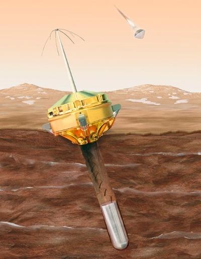 ディープ・スペース2号の想像図。(Image:NASA/JPL)