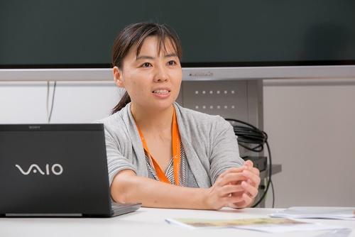 国立科学博物館人類研究部の久世濃子さん。