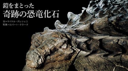 奇跡の恐竜化石は『ナショナル ジオグラフィック』ではじめて発表された。(画像クリックでフォトギャラリーへ)