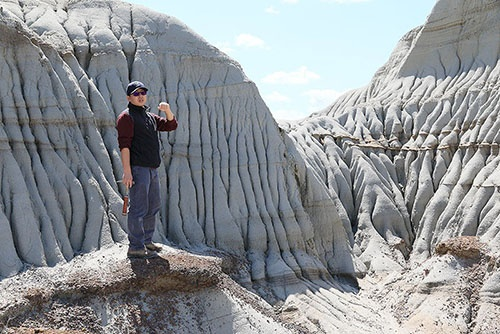 アルバータ州の恐竜州立公園。素人でも簡単に見つけられるほど、恐竜の化石がごろごろしている。(写真提供:川端裕人)