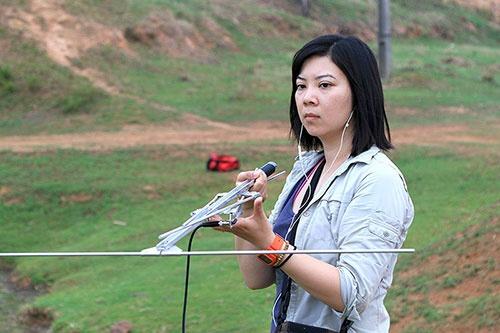 京都大学野生動物研究センターの菊池夢美さん。