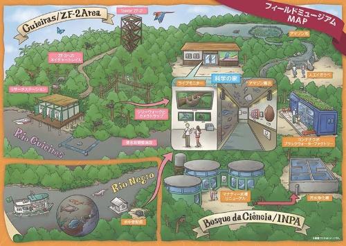 フィールドミュージアムの概念図。
