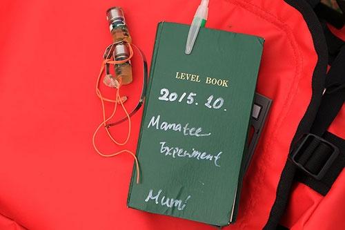 菊池さんの実験ノート。