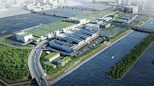 築地市場からの移転が延期となった豊洲市場(写真=東京都中央卸売市場)