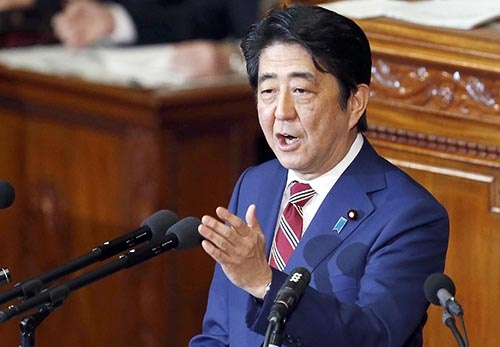 安倍晋三首相にとっても2018年は勝負の年になる(写真:日刊現代/アフロ)