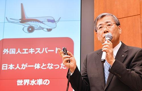 1月23日、5度目の延期を発表した三菱重工の宮永俊一社長
