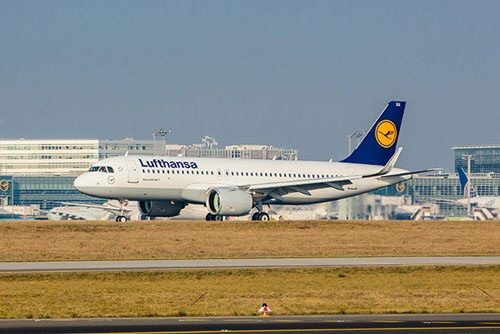 ルフトハンザが導入したA320neo。既に定期便にも投入されている(写真:エアバス提供)