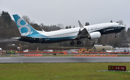 ボーイングの737 MAXも初飛行に成功した(写真:吉川 忠行)