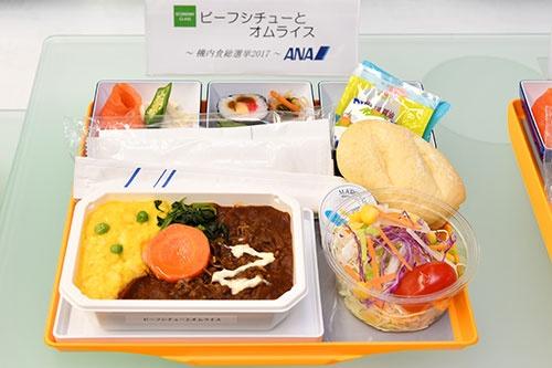 ANAの「機内食総選挙」で洋食1位となり、12月から登場する「ビーフシチューとオムライス」