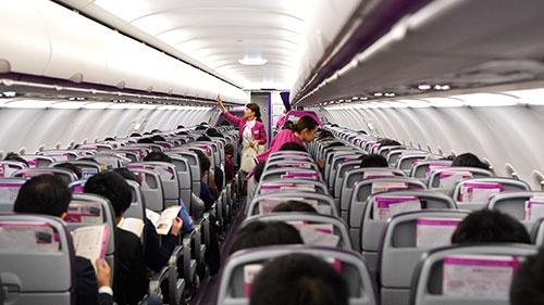 羽田発上海行きの初便はほぼ満席だった