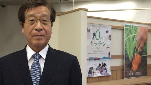 「オーガニックの世界には多様性が必要」と話す大地を守る会の藤田和芳社長(千葉市の本社オフィス)