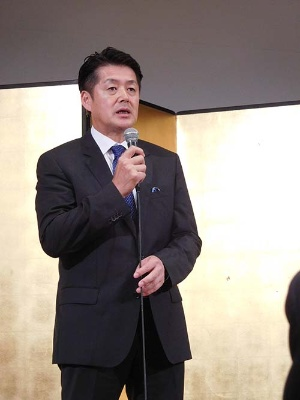 安定供給の強化を目指す山田敏之氏。(2016年7月に京都で開いた15周年記念パーティー)