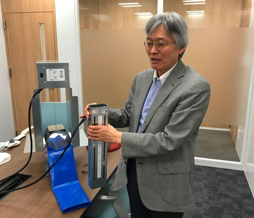 九州大学の南石晃明教授は現場目線の研究を続けている(都内で開かれた説明会)