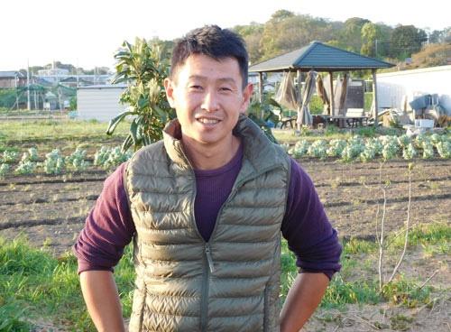 都市農業の再評価を訴える小野淳さん(東京都国立市)