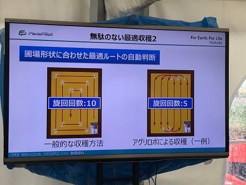 人が運転するのと比べ、旋回の回数を減らすことができる(千葉県柏市)