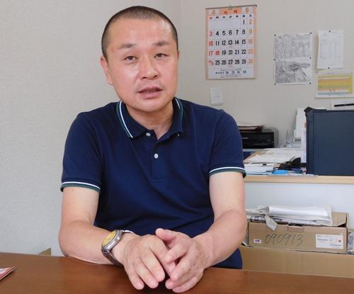 「農家ではなく、経営者になりたい」と話す田中さん。その一歩を踏み出した(京都府亀岡市)
