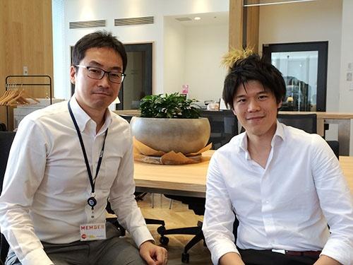 共同代表の安田瑞希氏と(東京都中央区のオフィス)