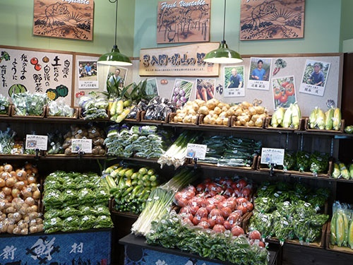 農家の顔が見える地元野菜のコーナー(写真提供:ヤオコー)