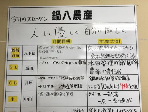 鍋八農産はスタッフが目標を立てるようになった(愛知県弥富市)
