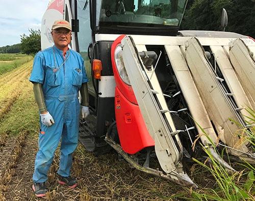 KSASで食味の向上を目指す山崎フロンティア農場の山崎直之氏(千葉県柏市)