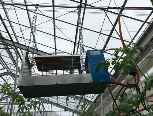 ガスを燃やして二酸化炭素を供給する装置(西東京市)