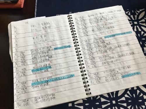 これまでは手書きで栽培記録をつけていた(福島市)