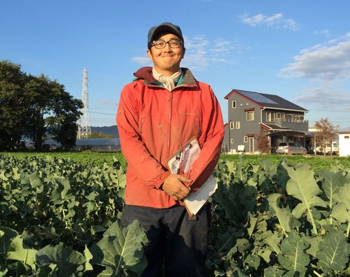 志野佑介さんは農業法人を経営していた(茨城県土浦市)