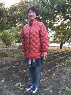 この畑の栗拾いから青木幸子さんの農業は始まった(東京都多摩市)