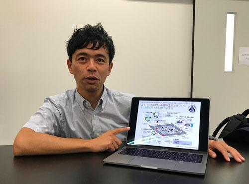 「栽培でコンピューターの役割が増す」と話す高山弘太郎・愛媛大准教授(松山市)