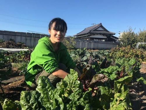 自分がいま畑にいる喜びを語る田口明香さん(東京都瑞穂町)