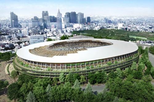 新国立競技場の外観イメージ(日本スポーツ振興センター提供)