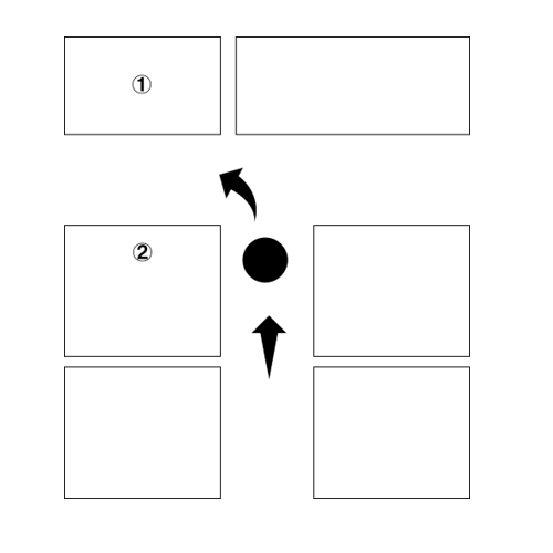 "<span class=""fontBold""><span class=""bgColBlack textColWhite"">展示会のブース配置の例</span></span>"