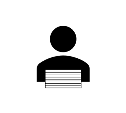 "<span class=""fontBold""><span class=""bgColBlack textColWhite"">束ねたチラシを横に持って渡す例</span></span>"