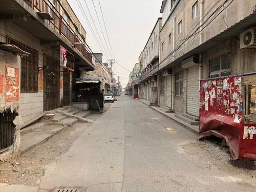 昨年11月に農民工の強制立ち退きがあった新建村。ゴーストタウンと化している(2018年1月)