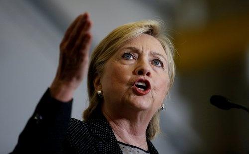 米国大統領選の民主党候補として正式指名を受けたヒラリー・クリントン氏(写真:ロイター/アフロ)